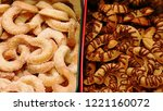 cookies and biscuits in tin...   Shutterstock . vector #1221160072