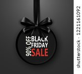 black friday sale inscription... | Shutterstock . vector #1221161092