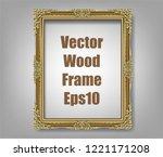 gold photo frame with corner... | Shutterstock .eps vector #1221171208