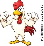 Cartoon Rooster. Vector Clip...