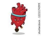 vector illustration of a heart... | Shutterstock .eps vector #1221174595