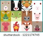set of chinese zodiac animals...   Shutterstock .eps vector #1221174745