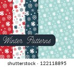 winter patterns | Shutterstock .eps vector #122118895