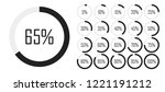 set of circle percentage... | Shutterstock .eps vector #1221191212