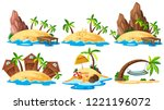 set of island collection... | Shutterstock .eps vector #1221196072