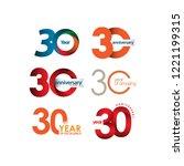 30 year anniversary set vector... | Shutterstock .eps vector #1221199315
