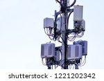 micro cellular 3g  4g  5g. base ... | Shutterstock . vector #1221202342