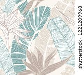 nature seamless pattern. hand... | Shutterstock .eps vector #1221209968