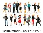 vectior illustration of office... | Shutterstock .eps vector #1221214192