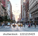 new york city   july  2018 ... | Shutterstock . vector #1221215425