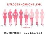 estrogen hormone levels chart ... | Shutterstock .eps vector #1221217885
