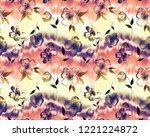 seamless endless hand painting... | Shutterstock . vector #1221224872
