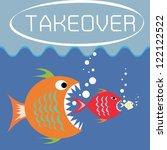 illustration of big fish eats... | Shutterstock .eps vector #122122522