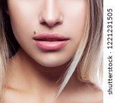 part of young beauty model... | Shutterstock . vector #1221231505