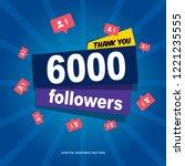 social media banner with thank...   Shutterstock .eps vector #1221235555