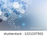 hexagonal abstract background.... | Shutterstock .eps vector #1221237502