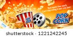 caramel popcorn banner ads with ...   Shutterstock .eps vector #1221242245