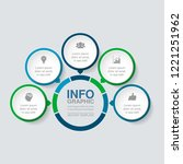 vector infographic template for ... | Shutterstock .eps vector #1221251962