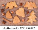 fresh baked homemade... | Shutterstock . vector #1221257422