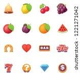 vector slot machine or slots... | Shutterstock .eps vector #1221271042