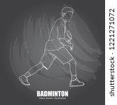 sport background design.... | Shutterstock .eps vector #1221271072