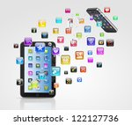 modern communication technology ... | Shutterstock . vector #122127736
