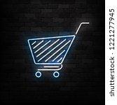 vector realistic isolated neon... | Shutterstock .eps vector #1221277945