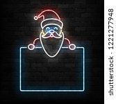 vector realistic isolated neon... | Shutterstock .eps vector #1221277948