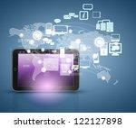 social network  communication... | Shutterstock . vector #122127898