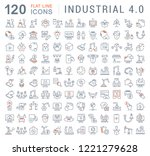 set of vector line icons of... | Shutterstock .eps vector #1221279628