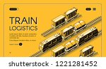 train logistics service... | Shutterstock .eps vector #1221281452