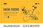 engine pistons service  repair... | Shutterstock .eps vector #1221281455