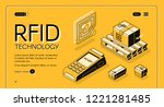 rfid technology for delivery...   Shutterstock .eps vector #1221281485