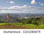 tourist taking photos of the...   Shutterstock . vector #1221283675