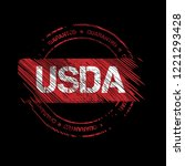 Grunge Usda Emblem  Label ...
