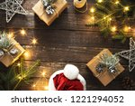 frame made of christmas... | Shutterstock . vector #1221294052