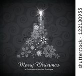artistic vector christmas tree... | Shutterstock .eps vector #122130955