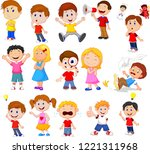Cartoon Kids With Different...