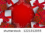 christmas background. white ... | Shutterstock .eps vector #1221312055