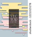 covers templates set with... | Shutterstock .eps vector #1221315178