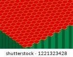abstract hexagonal background.... | Shutterstock .eps vector #1221323428