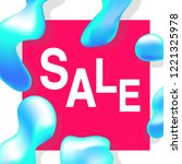 sale banner template  abstract...   Shutterstock .eps vector #1221325978