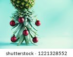 creative christmas tree made of ... | Shutterstock . vector #1221328552