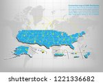 modern of usa territories map... | Shutterstock .eps vector #1221336682