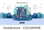 job hiring and online...   Shutterstock .eps vector #1221340948