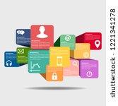 vector infographic template | Shutterstock .eps vector #1221341278