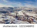 aerial view of a small town in... | Shutterstock . vector #1221348892