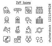 ivf  in vitro fertilization... | Shutterstock .eps vector #1221349828