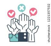 voting of citizens  raising... | Shutterstock .eps vector #1221357532