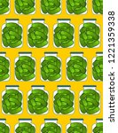 bank pickled cucumbers pattern... | Shutterstock .eps vector #1221359338